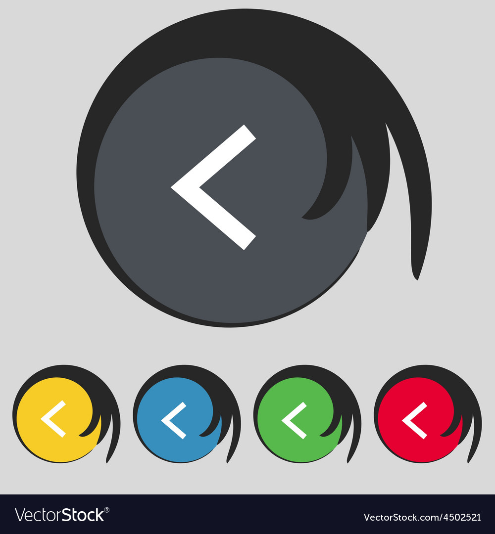 Arrow left way out icon sign symbol on five vector   Price: 1 Credit (USD $1)