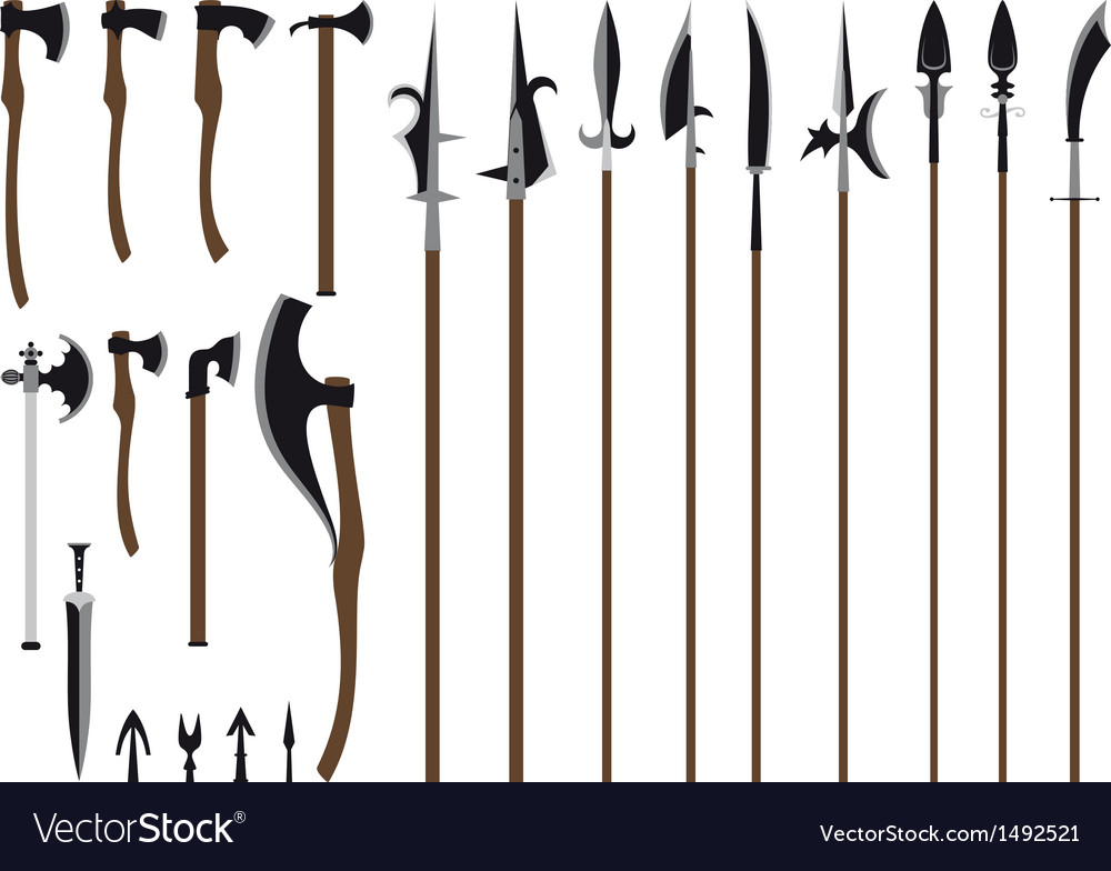 Big weapon set vector | Price: 1 Credit (USD $1)