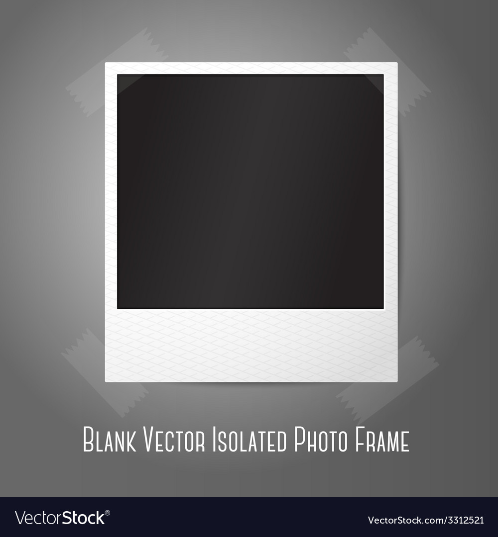 Blank instant photo frame sticked to the wall vector | Price: 1 Credit (USD $1)