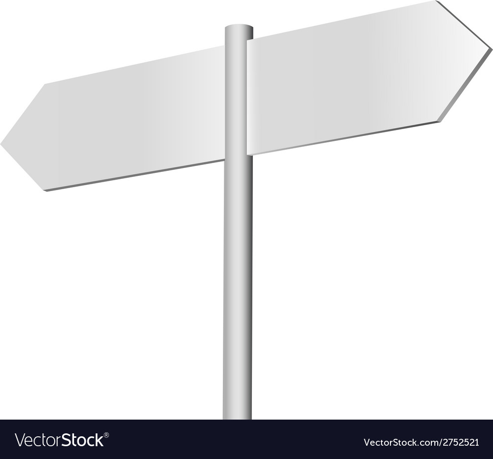 Blank signpost on sky background vector | Price: 1 Credit (USD $1)