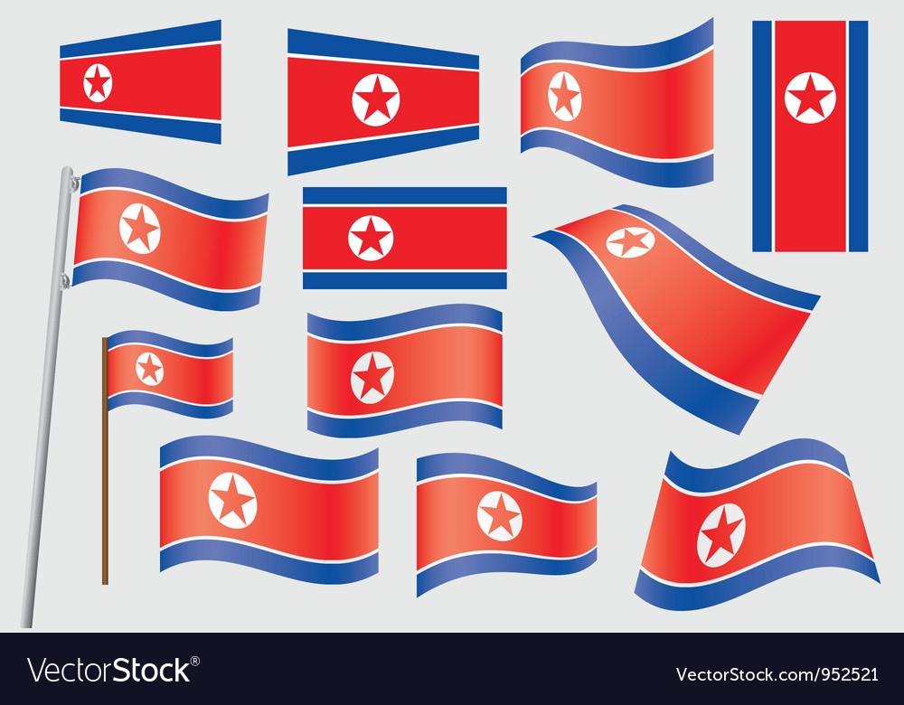 Flag of north korea vector | Price: 1 Credit (USD $1)