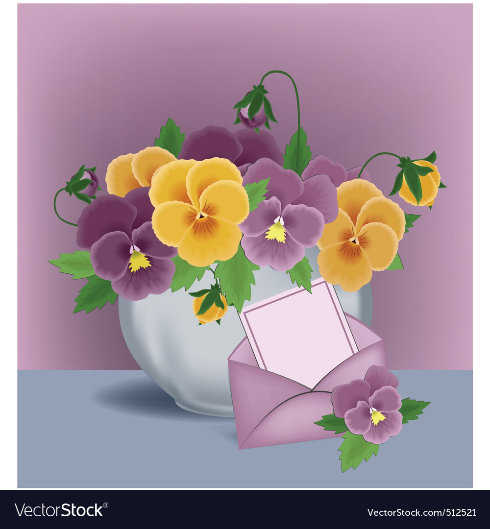 Floral pot vector | Price: 3 Credit (USD $3)