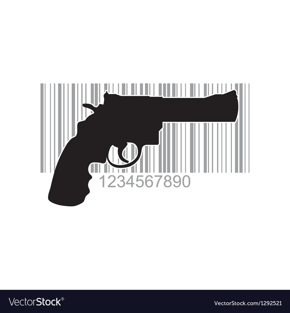 Gun barcode vector | Price: 1 Credit (USD $1)