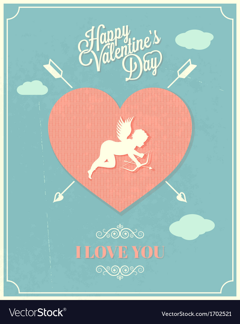 Holiday frame happy valentines day vector | Price: 1 Credit (USD $1)