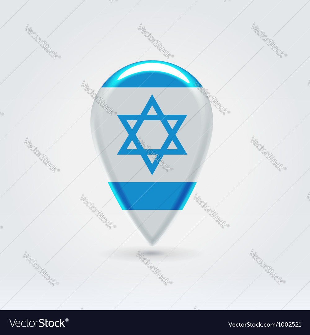 Israel icon point for map vector | Price: 1 Credit (USD $1)