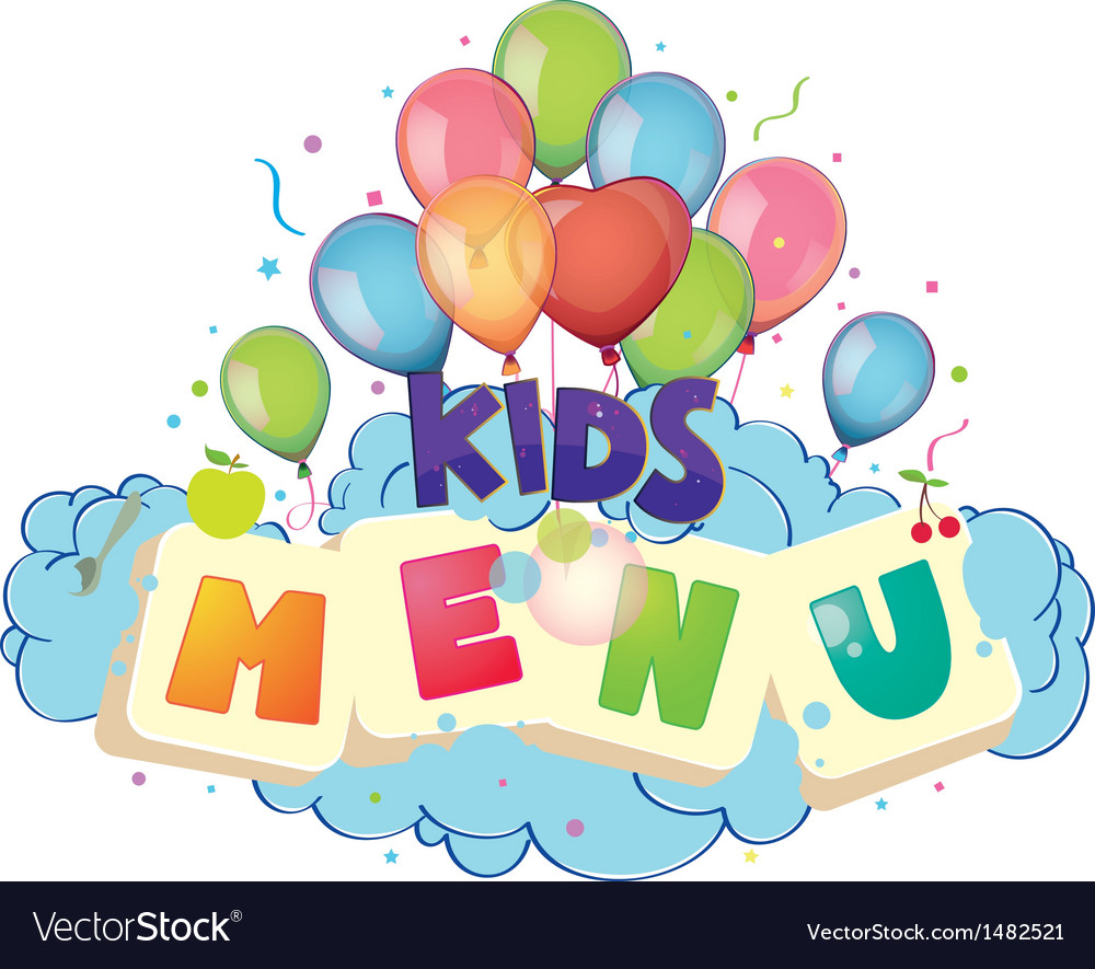 Kids menu vector | Price: 3 Credit (USD $3)