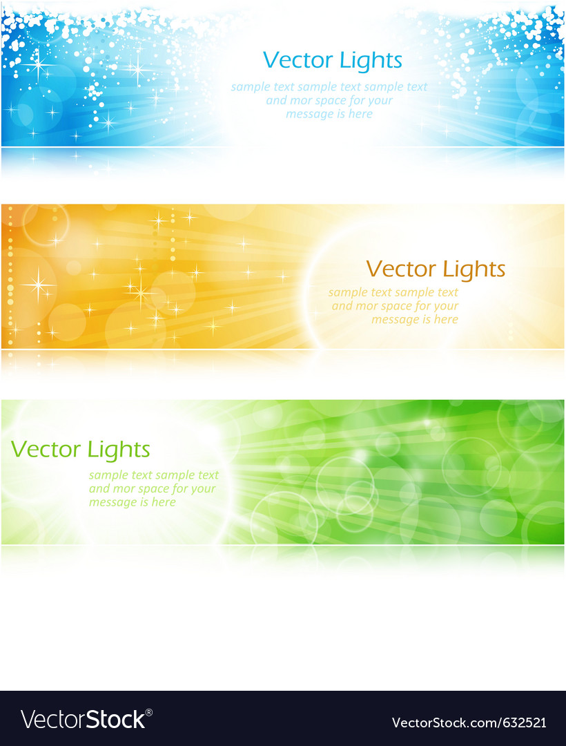 Light burst banner set vector | Price: 1 Credit (USD $1)