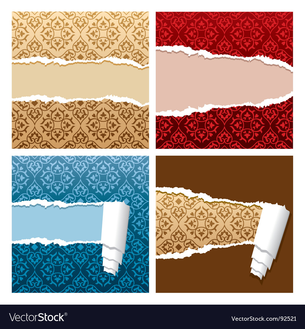 Ripped wallpaper vector | Price: 1 Credit (USD $1)