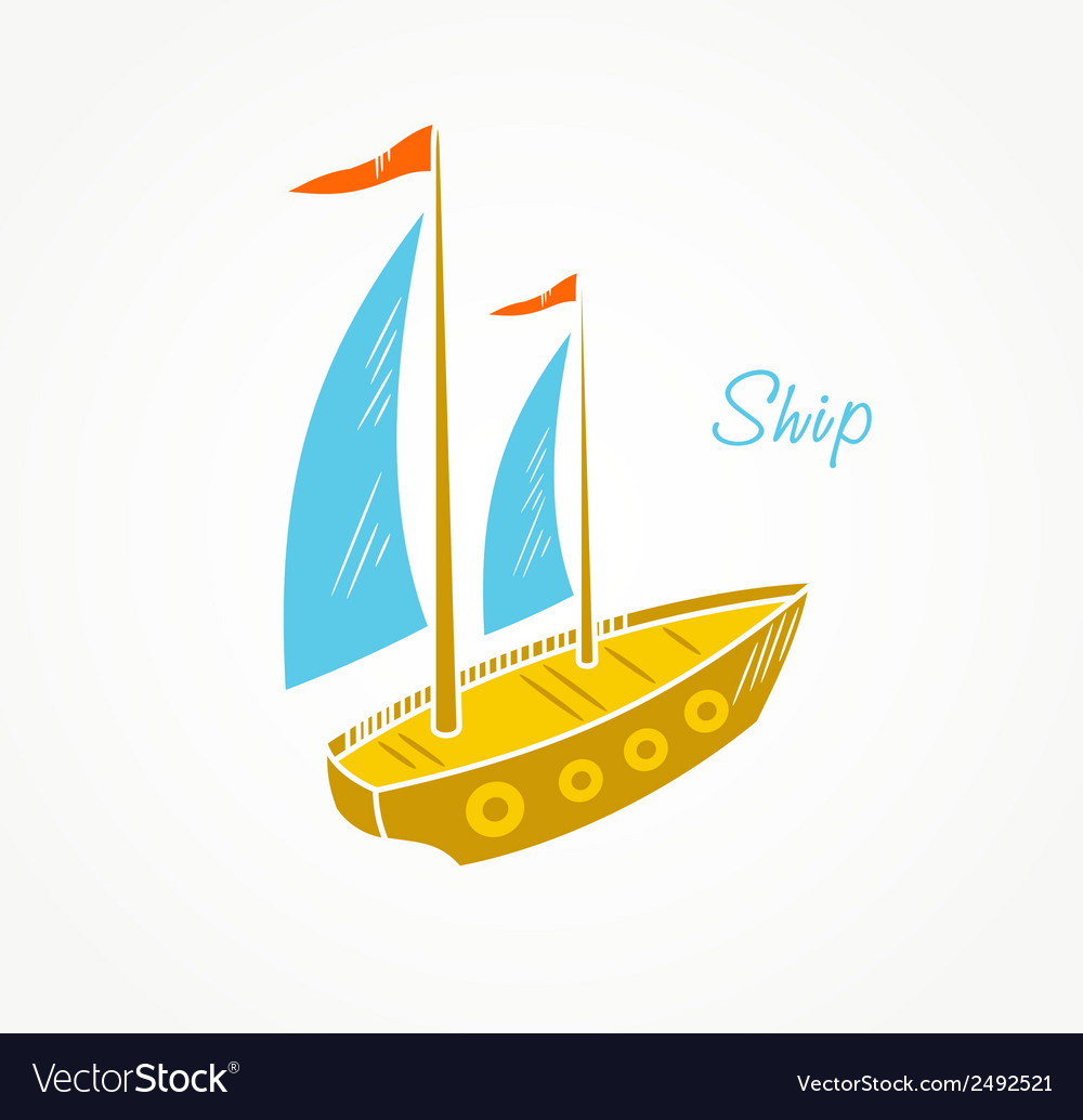 Sailboat vector | Price: 1 Credit (USD $1)