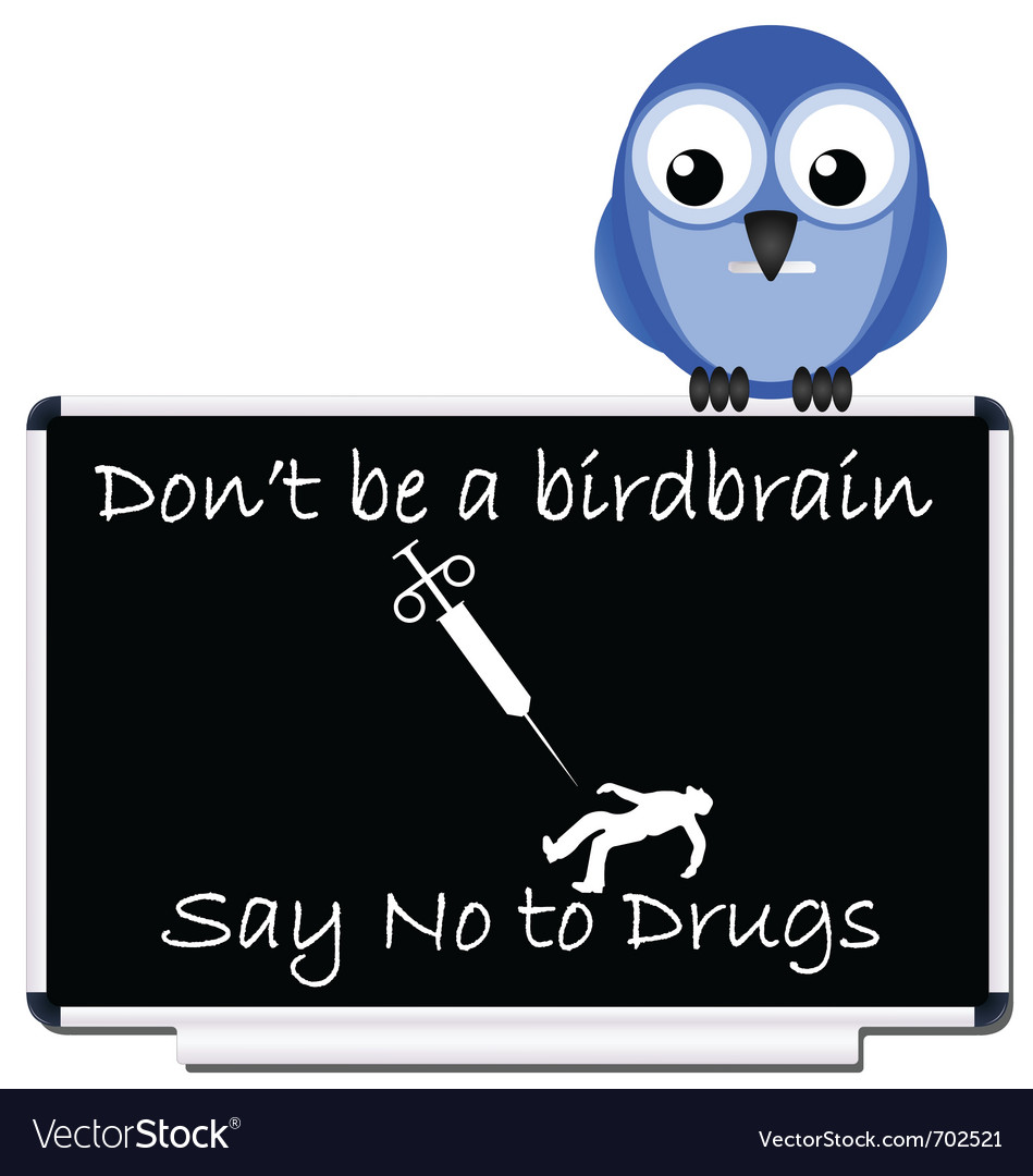 Say no to drugs message vector | Price: 1 Credit (USD $1)