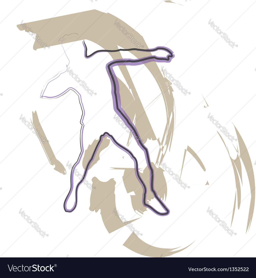 Athlete throwing the discus vector | Price: 1 Credit (USD $1)