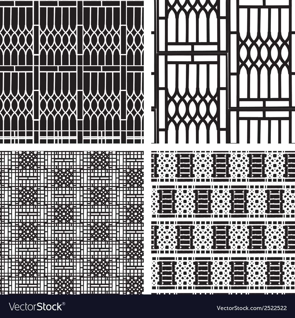 Black and white seamless pattern of curved steel vector | Price: 1 Credit (USD $1)