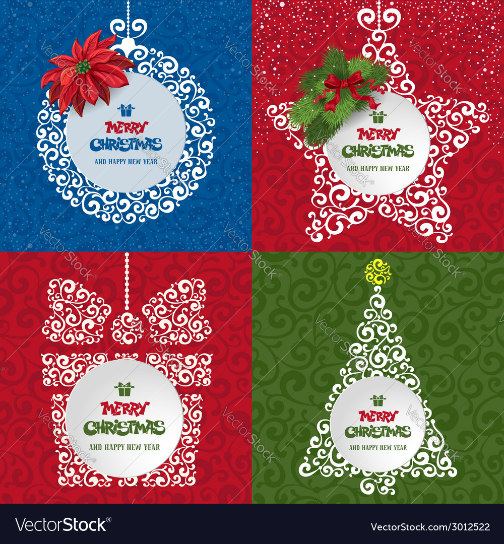 Christmas decor set vector | Price: 1 Credit (USD $1)