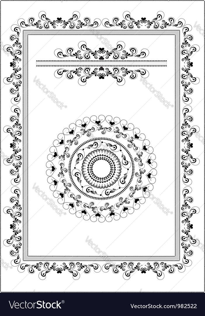 Decorative frame border vector | Price: 1 Credit (USD $1)
