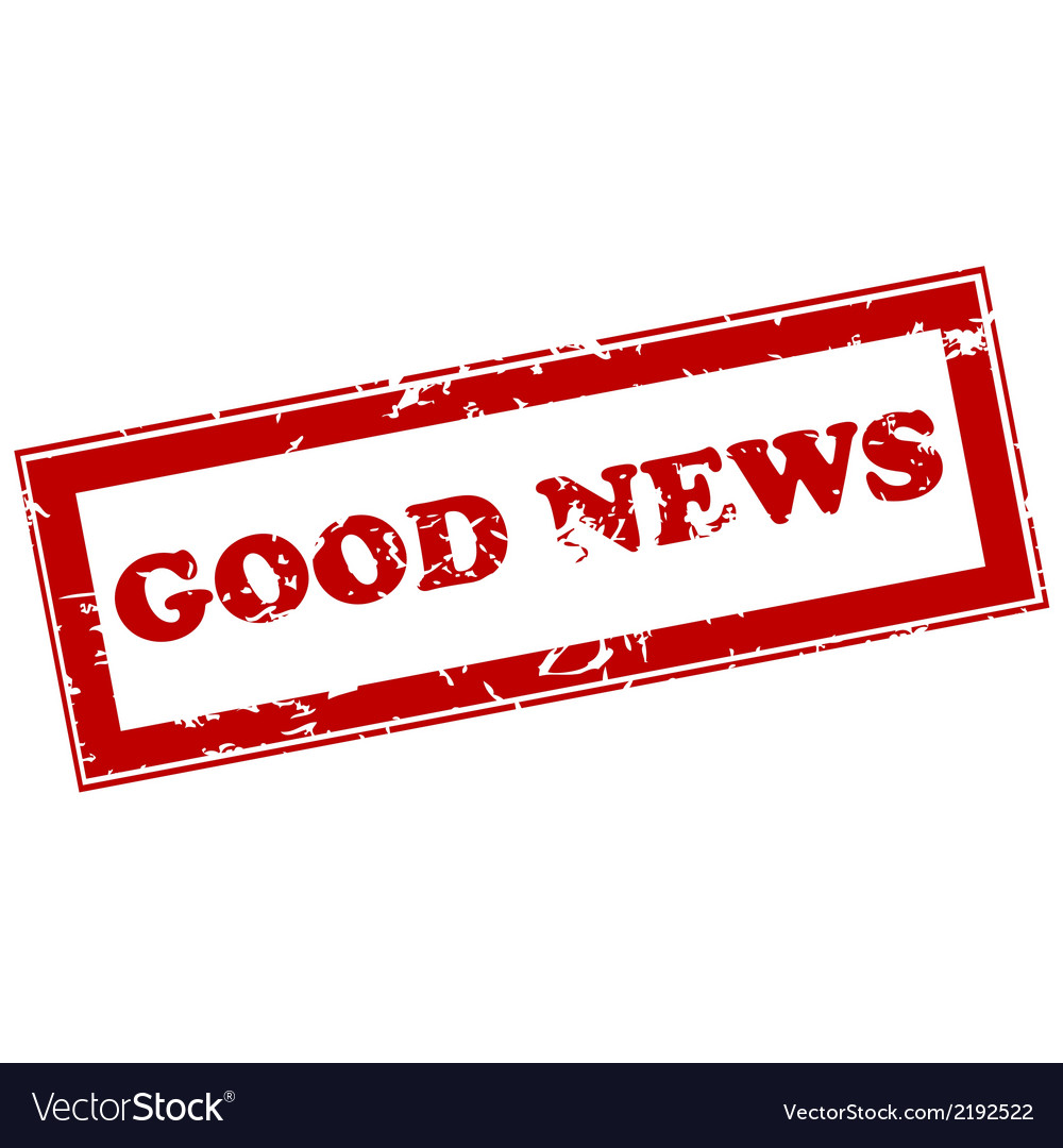 Good news red stamp vector | Price: 1 Credit (USD $1)