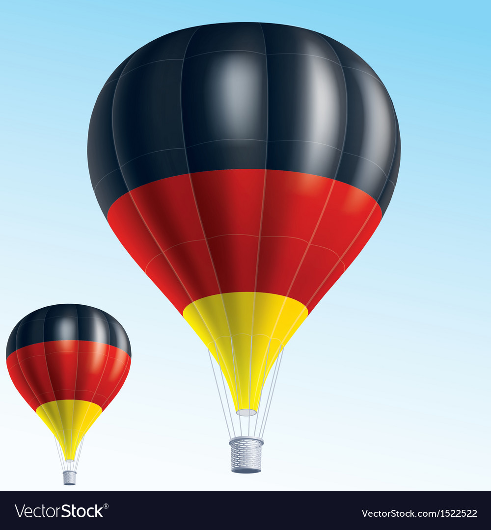Hot balloons painted as germany flag vector | Price: 3 Credit (USD $3)
