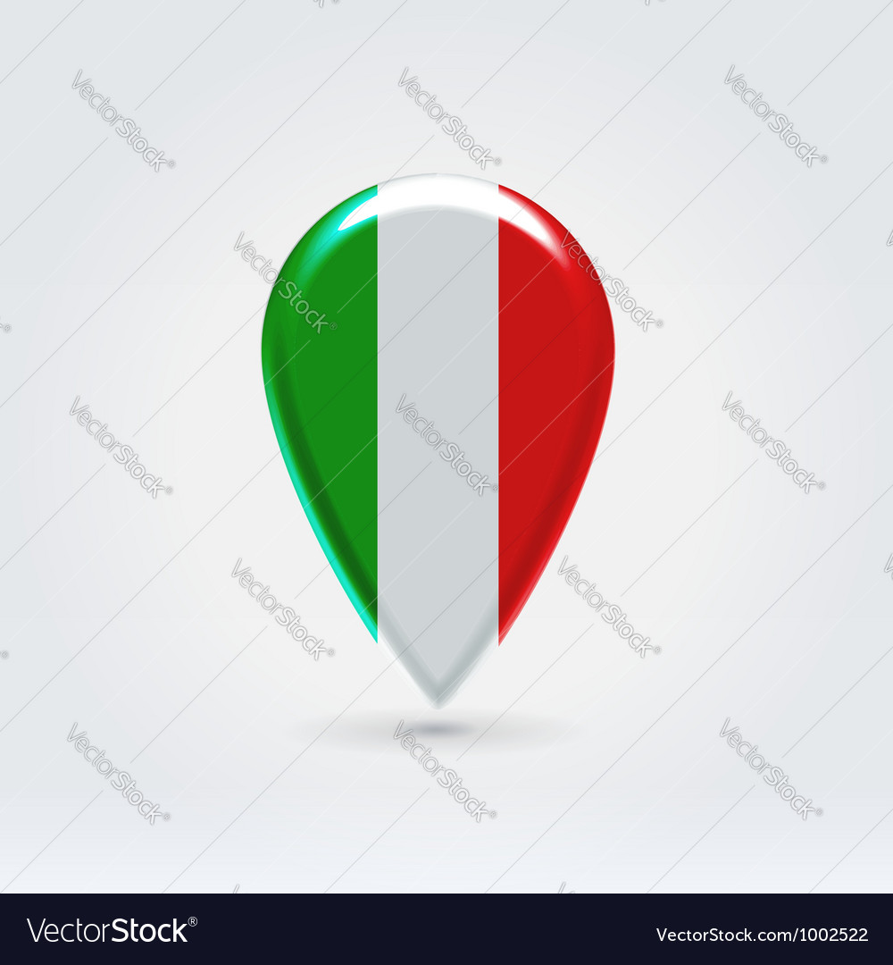 Italian icon point for map vector | Price: 1 Credit (USD $1)