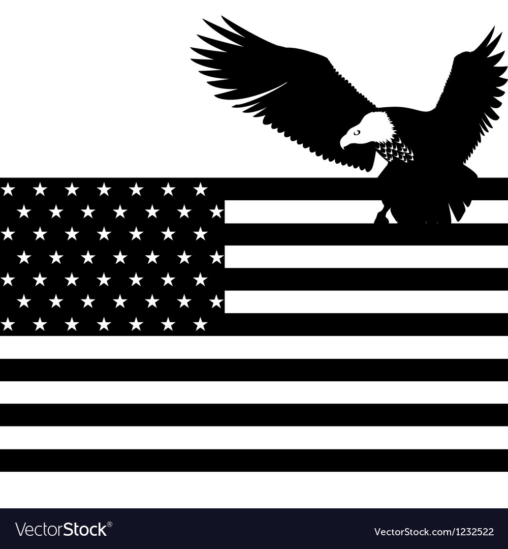 Us flag and an eagle vector | Price: 1 Credit (USD $1)