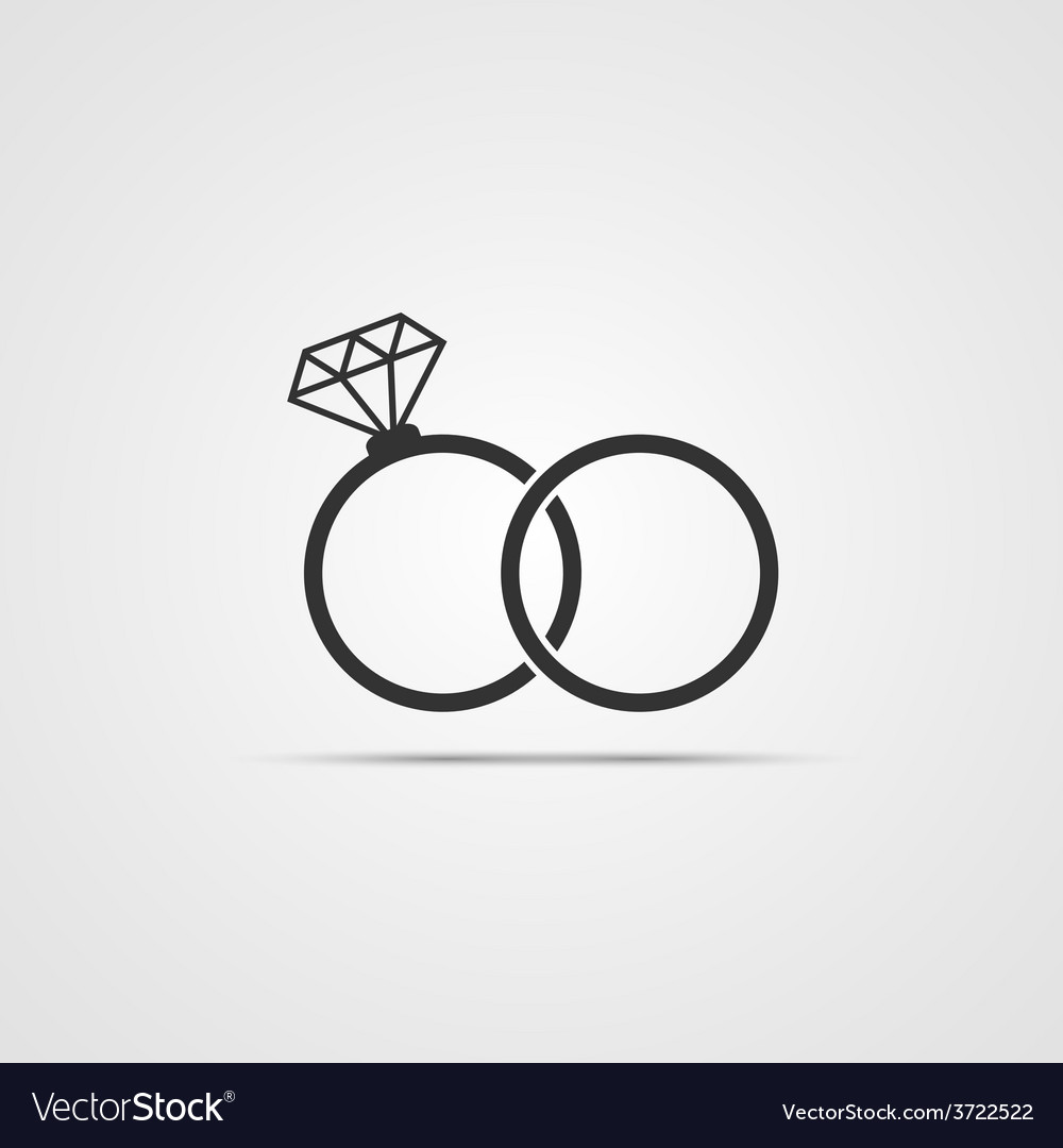 Wedding ring icon vector | Price: 1 Credit (USD $1)