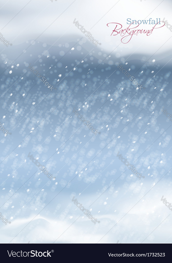 Abstract winter snowfall background vector | Price: 1 Credit (USD $1)