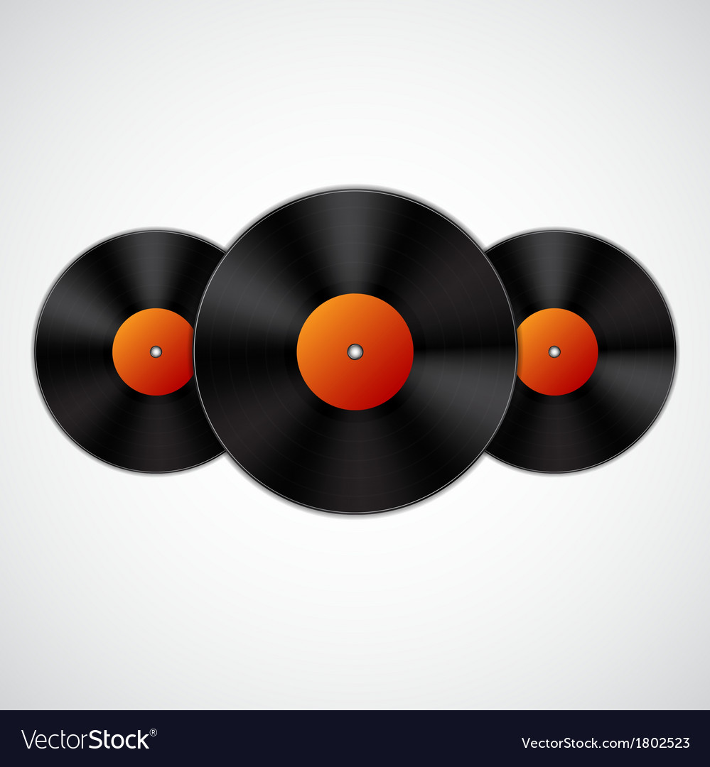Background with vinyl records vector | Price: 1 Credit (USD $1)