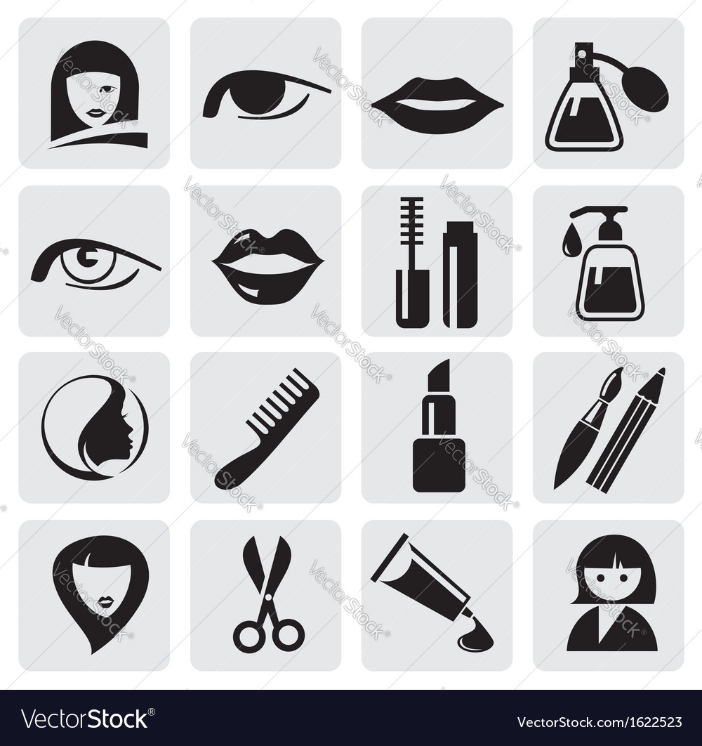 Beauty icons vector | Price: 1 Credit (USD $1)