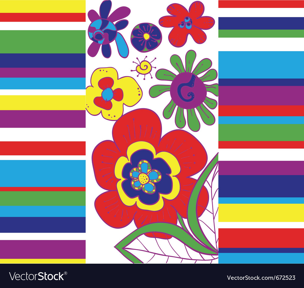 Bright abstract floral background vector | Price: 1 Credit (USD $1)