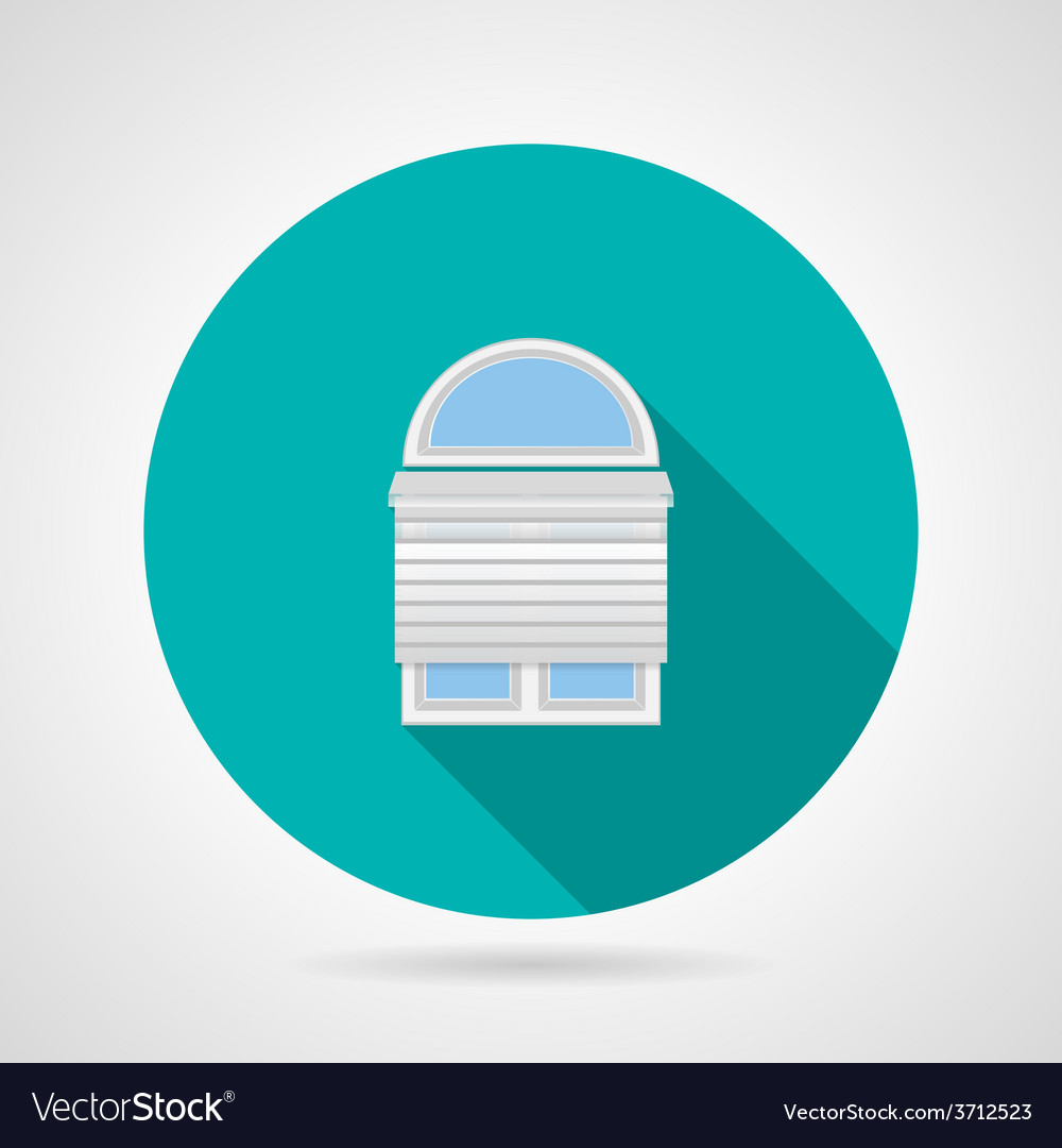 Circle icon for arch window with rolled shutters vector | Price: 1 Credit (USD $1)
