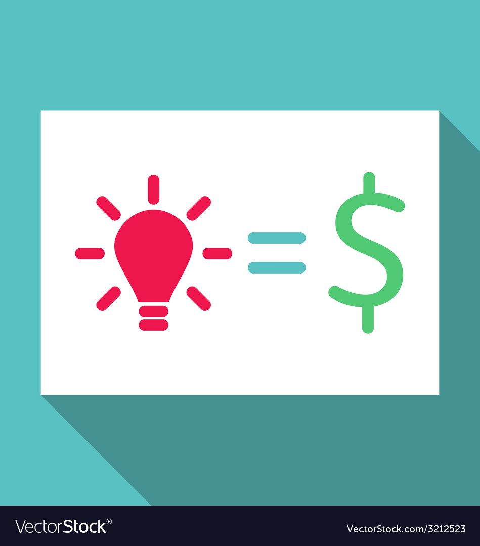 Concept of creative idea is cash income - vector | Price: 1 Credit (USD $1)