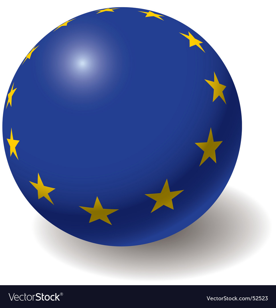 European union flag on ball vector | Price: 1 Credit (USD $1)