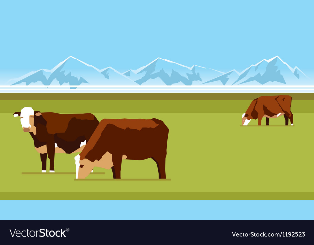 Farm cows vector | Price: 1 Credit (USD $1)