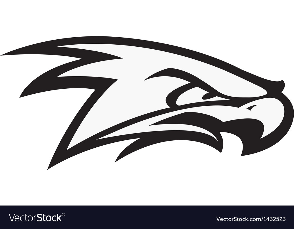 Fighting hawk vector