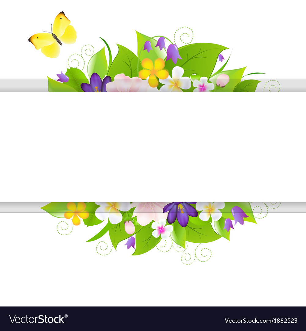 Flowers with paper vector | Price: 1 Credit (USD $1)