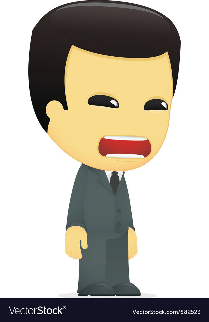 Funny cartoon asian businessman vector | Price: 1 Credit (USD $1)