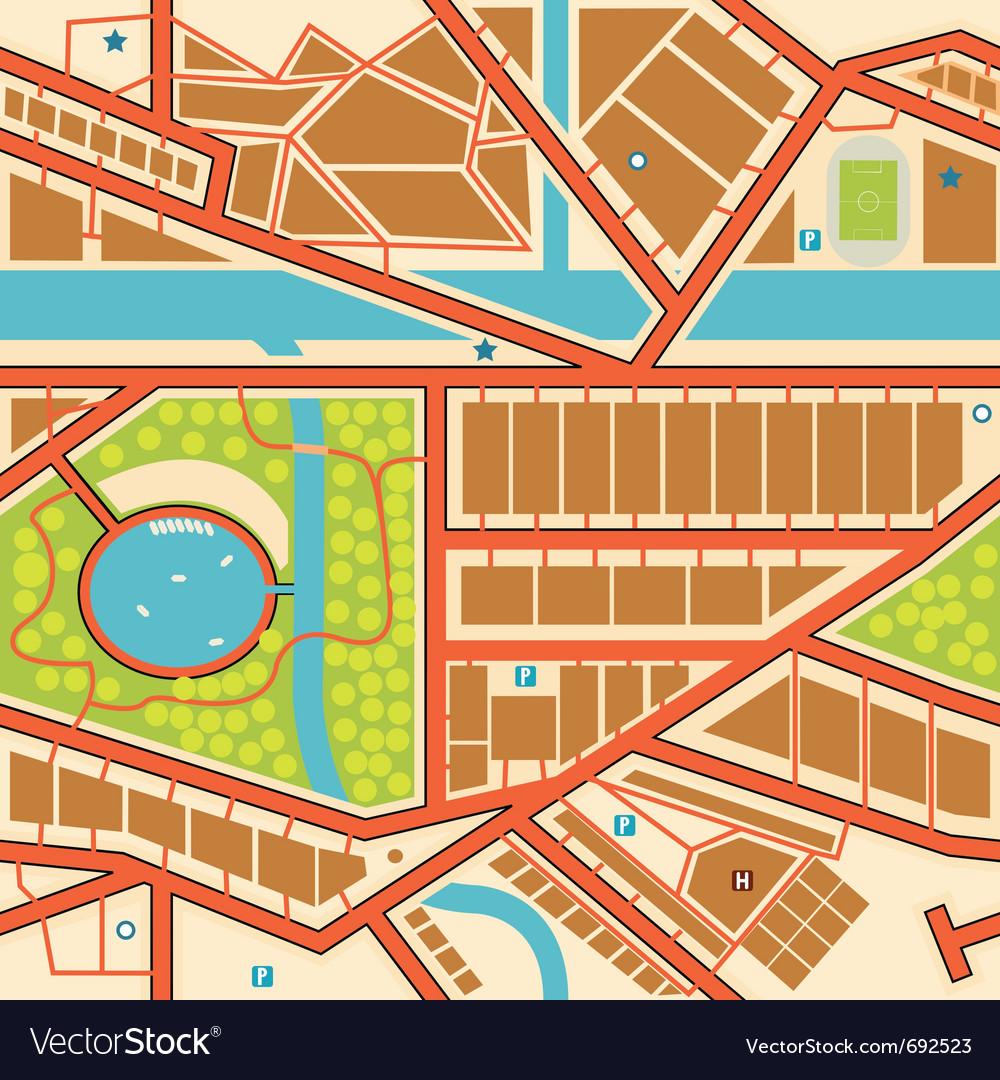 Generic city map vector | Price: 1 Credit (USD $1)