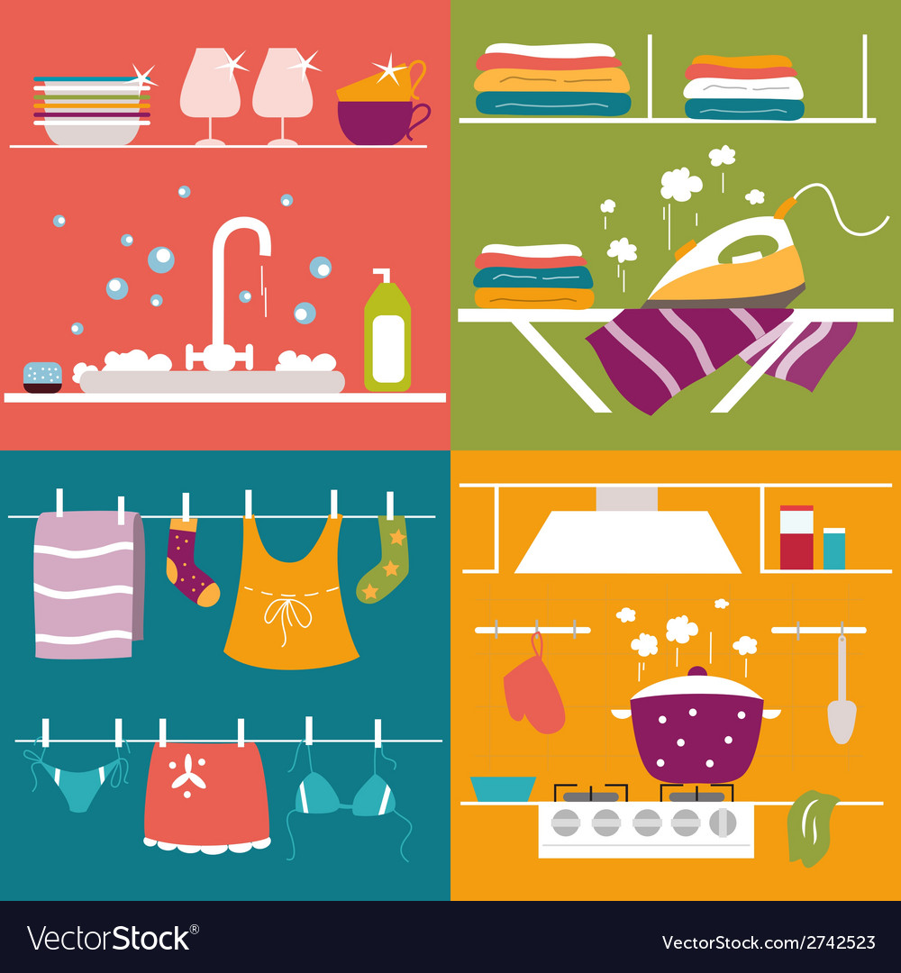 Housekeeping vector | Price: 1 Credit (USD $1)