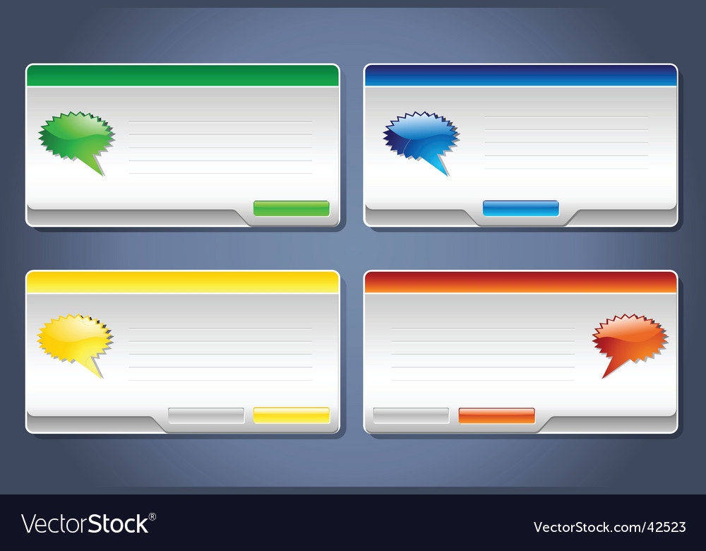 Message boxes vector | Price: 1 Credit (USD $1)