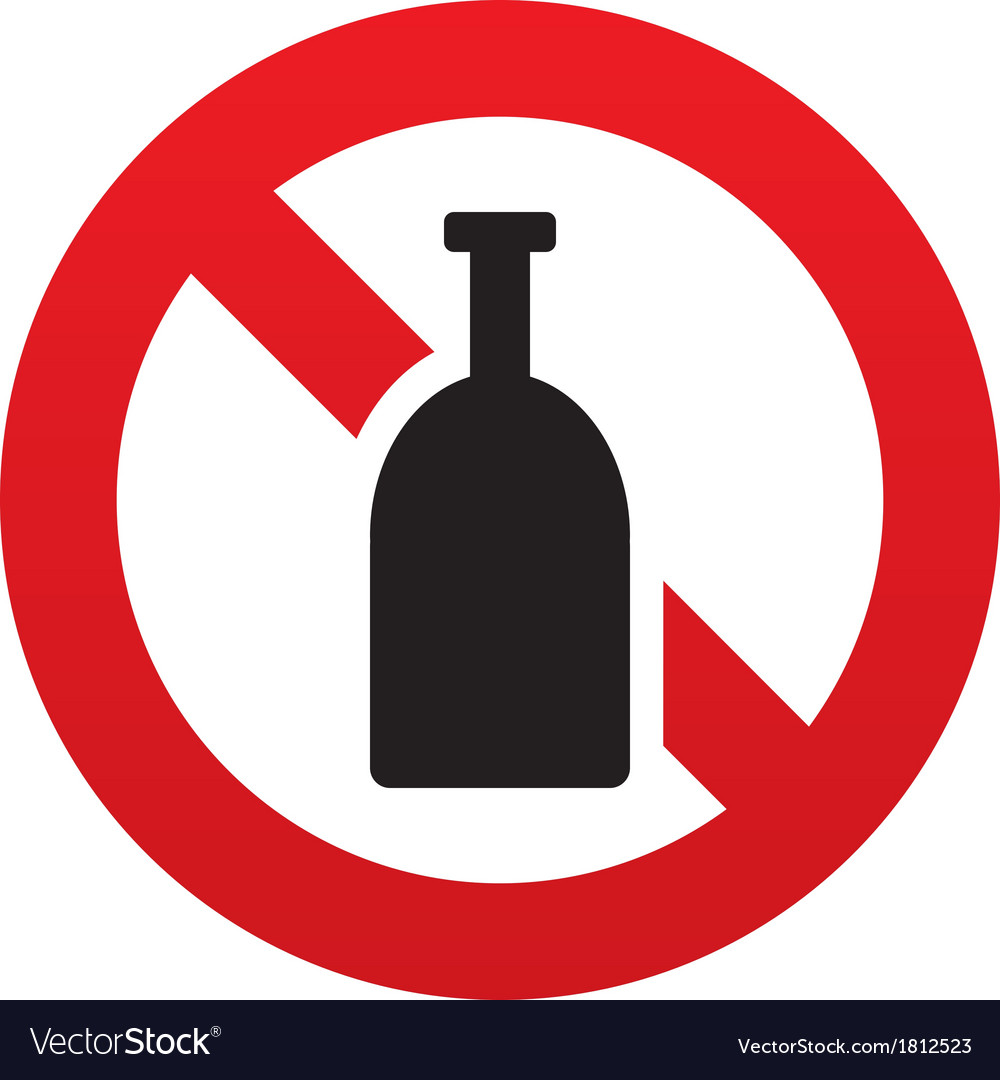 No alcohol sign icon drink symbol bottle vector | Price: 1 Credit (USD $1)