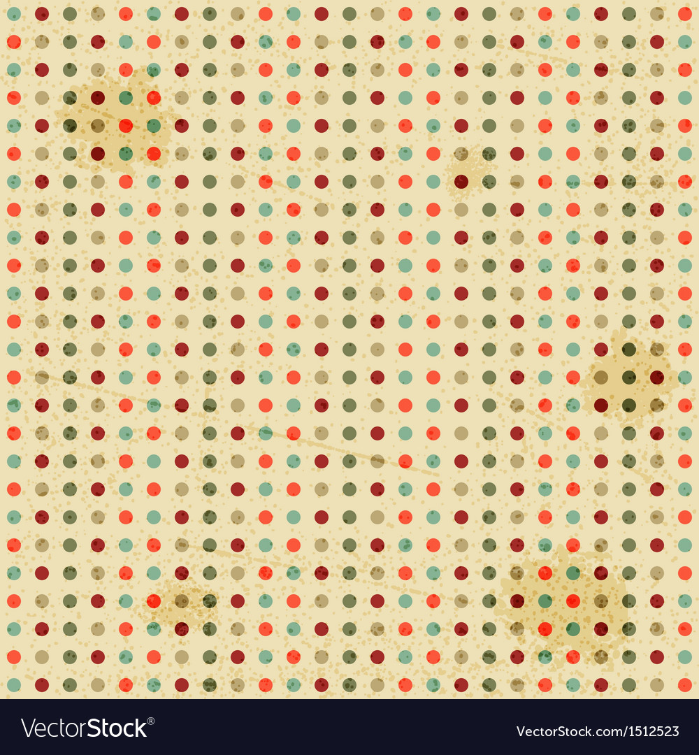 Seamless polka dot pattern vector | Price: 1 Credit (USD $1)