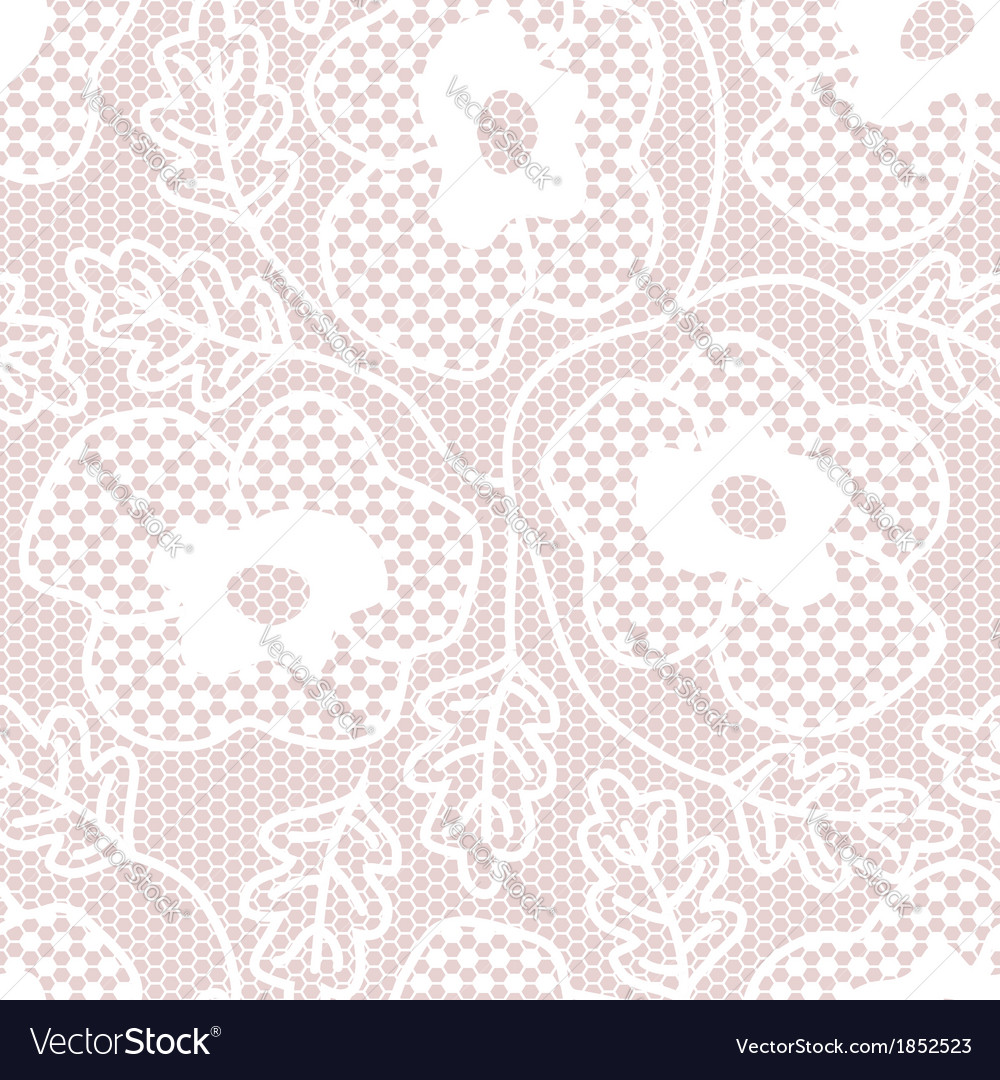 White lace seamless pattern vector | Price: 1 Credit (USD $1)