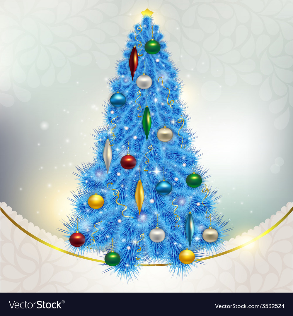 Abstract background with elegant christmas blue vector | Price: 3 Credit (USD $3)