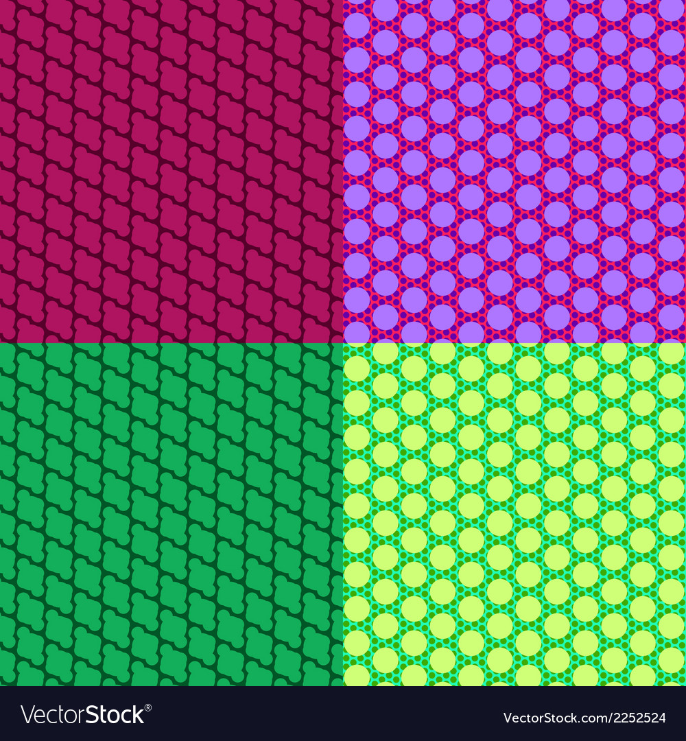 Abstract seamless colorful patterns vector | Price: 1 Credit (USD $1)