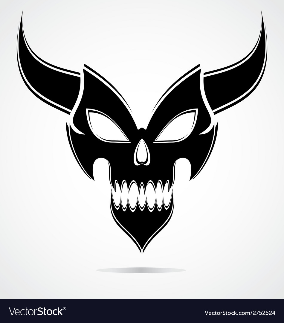 Black demon mask vector | Price: 1 Credit (USD $1)