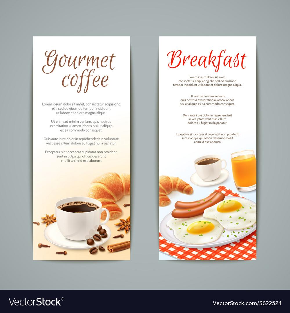 Breakfast banners set vector | Price: 1 Credit (USD $1)