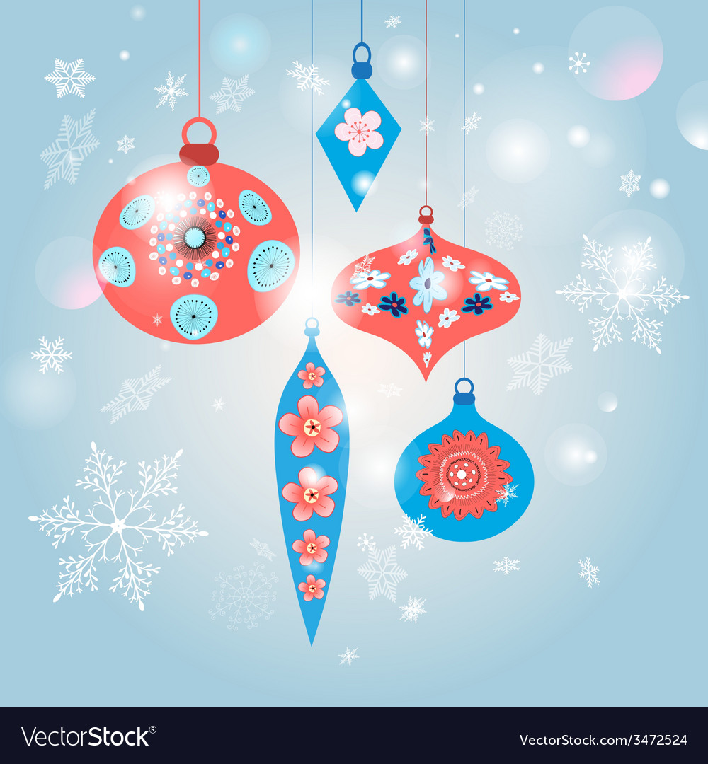Christmas decorations vector | Price: 1 Credit (USD $1)