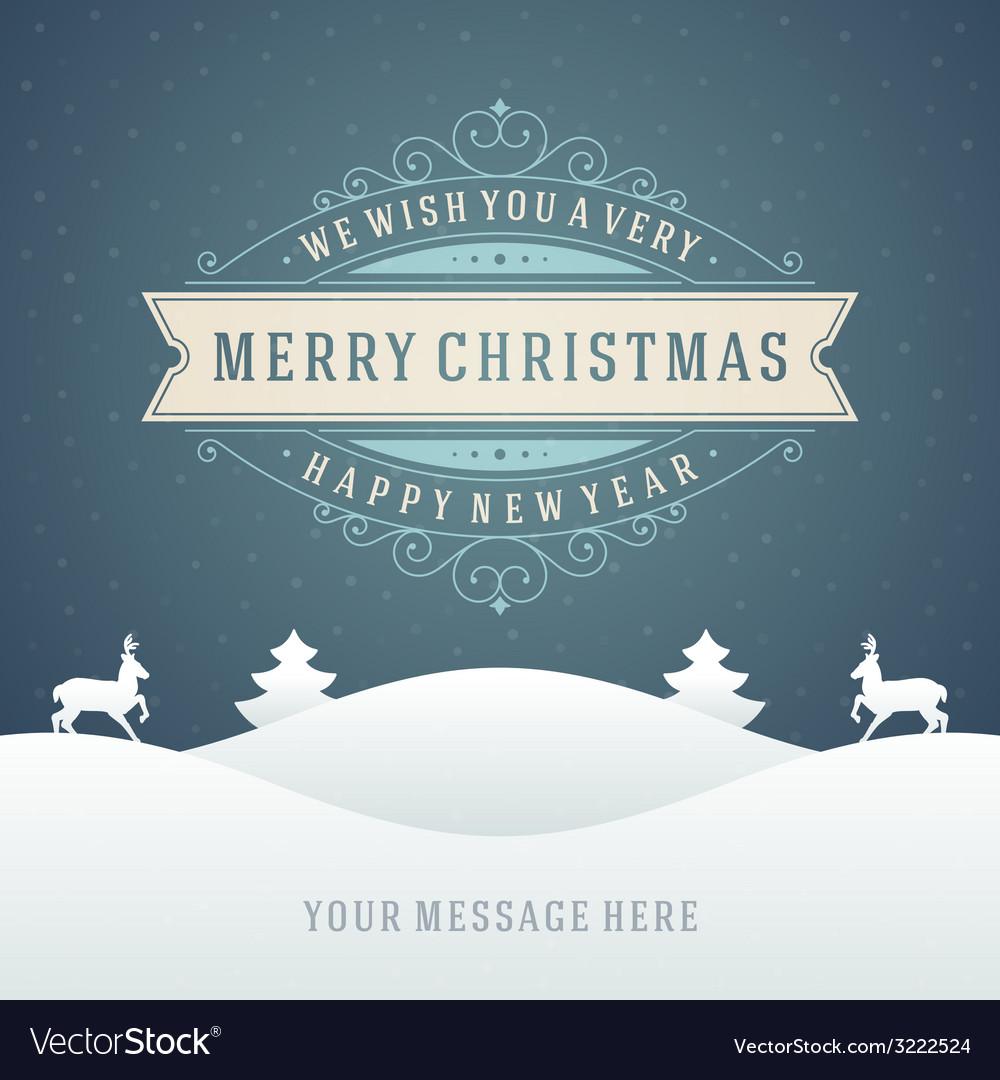 Christmas retro typographic and ornament vector   Price: 1 Credit (USD $1)