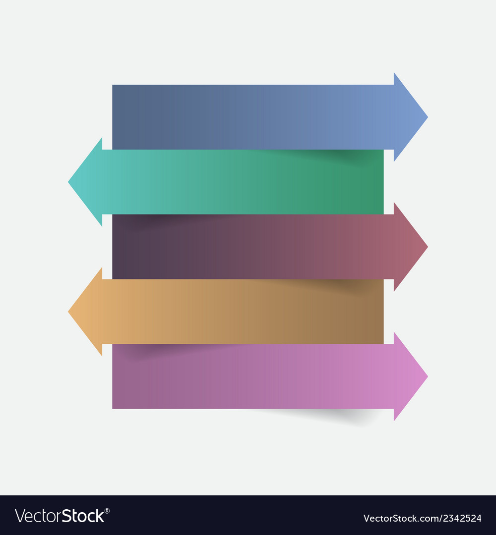 Color paper arrow infographics template design vector | Price: 1 Credit (USD $1)