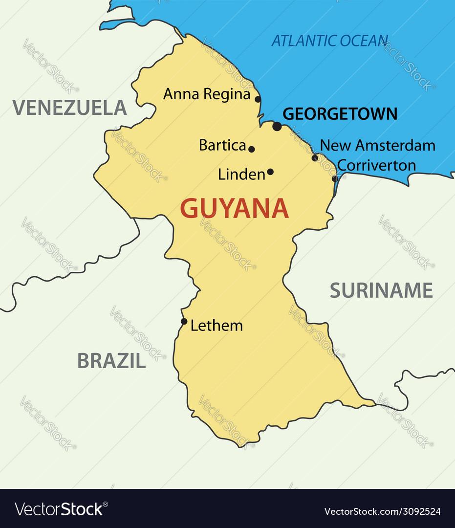 Co-operative republic of guyana - map vector | Price: 1 Credit (USD $1)