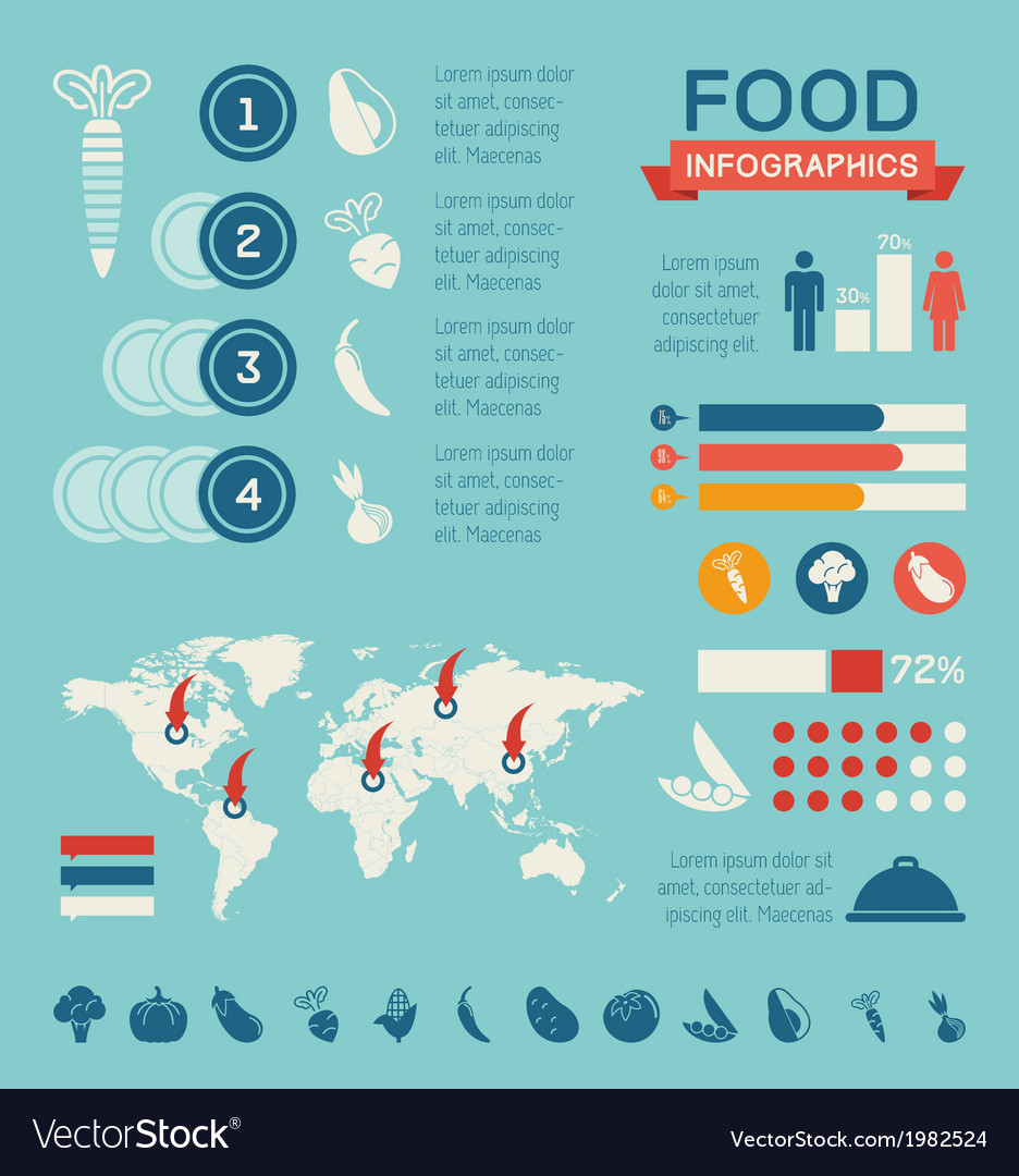 Food infographic template vector   Price: 1 Credit (USD $1)