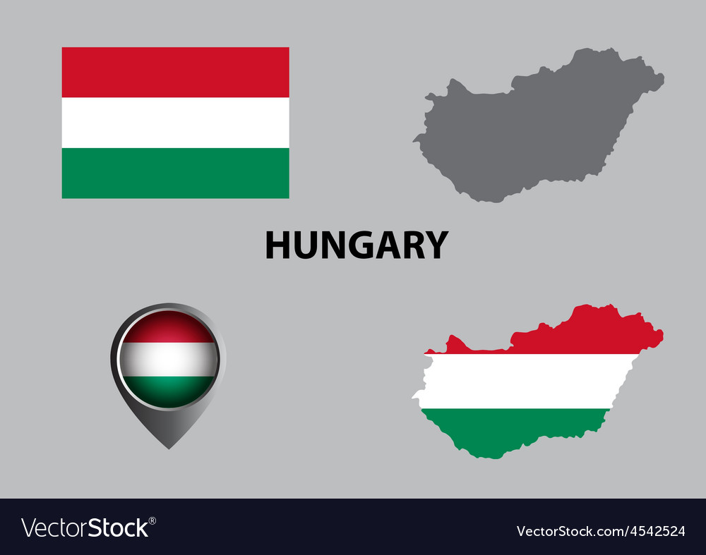 Map of hungary and symbol vector | Price: 1 Credit (USD $1)